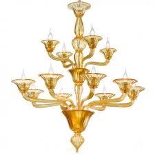 ivetta murano glass chandelier 8 4 lights amber
