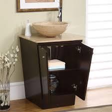 bathroom vanity single sink. Amazon.com: Silkroad Exclusive Travertine Stone Single Sink Vessel Bathroom Vanity With Storage Cabinet, 22-Inch: Home \u0026 Kitchen