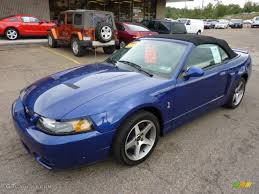 2003 Sonic Blue Metallic Ford Mustang Cobra Convertible #53463747 ...