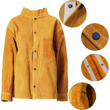 5 kinds leather welding protective jacket clothing suit