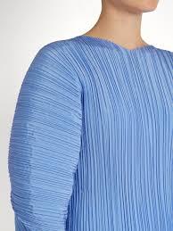 Jil Sander Calia Pleated Silk Top Cornflower Blue Womens Jil