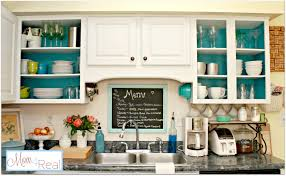 Paint Inside Kitchen Cabinets Open Cabinets With White Aqua Lime Green Silver Accents Mom