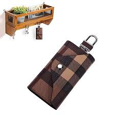 Linsam <b>PU Leather</b> Plaid Key <b>Car</b> Wallets <b>Car Keychain</b> Key Holder ...