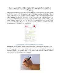 Ielts Test Application Form Tips