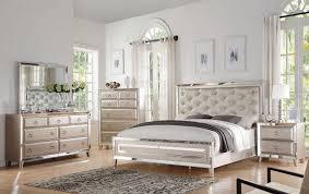 Bedroom Luxury Old Hollywood Mirrored Bedroom Furniture