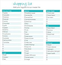 grocery checklist shopping list maker and checklist template with teal color scheme