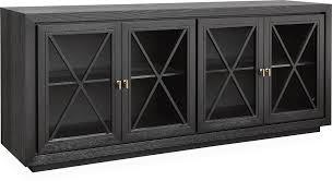 york wenge veneer sideboard 4 glass doors