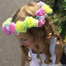 Paper Flower Headbands How To Make A Flower Crown With Tissue Paper Celebrate Every Day