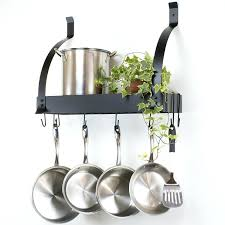 Wall Mount Pot Rack With Shelf Stainless Steel Mounted Diy