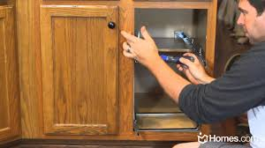 Add Drawers To Kitchen Cabinets Homescom Diy Experts How To Install Roll Out Cabinet Drawers