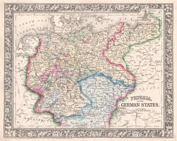 map of prussia and the german states  mitchell – shaw galleries