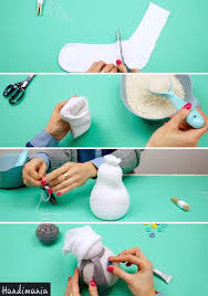 how to make a diy sock snowman decoration for winter