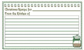Christmas Recipe Cards Template Christmas Recipe Card Template Printable Holiday Recipe