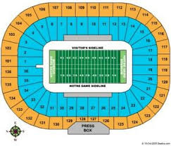 Notre Dame Stadium Detailed Seating Chart Details About 2 Notre Dame Vs Boston College Football Tickets Excellent Seats