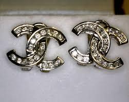 chanel double c earrings. chanel double c 14kwg and diamond earrings | chanel pinterest diamond, coco and bling double earrings