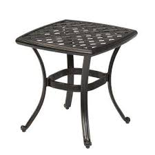 outdoor metal table. Wonderful Metal Belcourt Metal Square Outdoor Side Table Throughout A
