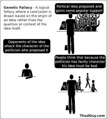 genetic fallacy thad guy genetic fallacy