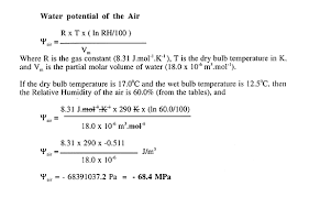 Water Potential Equation Water Potential Equation Zlatan Fontanacountryinn Com