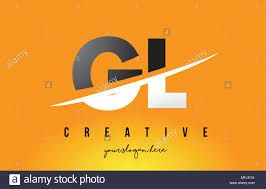 Gl Design Gl G L Letter Modern Logo Design With Swoosh Cutting The