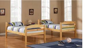 wooden twin beds. Delighful Beds Walker Edison TwinTwin Solid Wood Bunk Honey Throughout Wooden Twin Beds