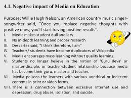 impact of media on education 12