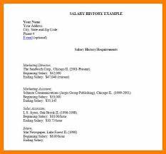 7 Resume With Salary History Activo Holidays