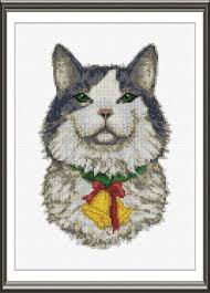Cat Cross Stitch Patterns Adorable Christmas Cat Cross Stitch Pattern Cats