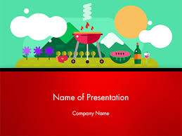 Picnic Template Bbq Picnic Powerpoint Template Backgrounds 14628
