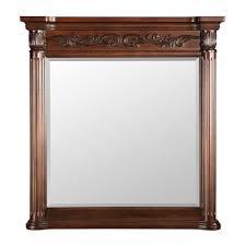 belle foret estates 38 in l x 36 in w wall mirror in rich