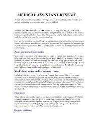 Agreeable Resume For Medical Assistant Student Also Medical