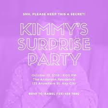 Surprise Party Invitation Templates Zoli Koze