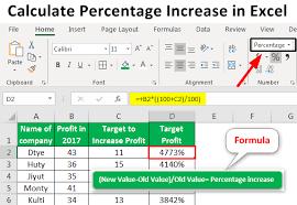 how to calculate percene increase in