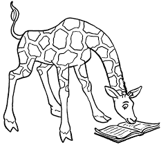 Small Picture Cartoon Giraffe Coloring Pages Coloring Page