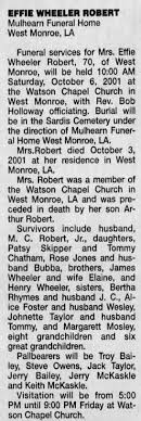 Effie Estelle Wheeler Robert obituary - Newspapers.com