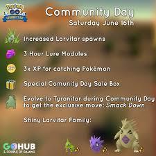 Larvitar Community Day 6 Guide June Pinoy Pokemon Go