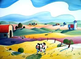 funny cow canvas art flower power is a fun cow painting with lots of flowers by on wall art flower power with funny cow canvas art flower power is a fun cow painting with lots of