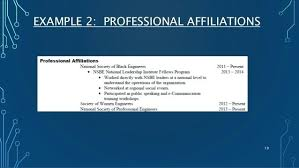 Professional Affiliations On A Resume Professional Affiliations
