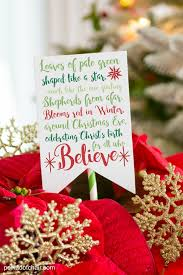 cute neighbor gift ideas a poinsettia decorated with ornament s and a poinsettia poem