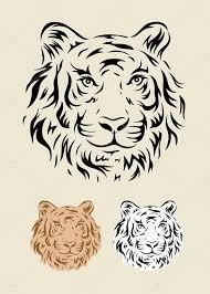 Tribal Tetování Tiger Stock Vektor Sumbajimartinus 54442605