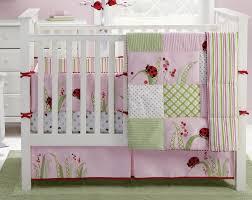 captivating ladybug baby bedding 4 pink