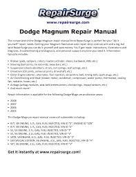 dodge magnum repair manual 2005 2008 repairsurge com dodge magnum repair manual the convenient online dodge magnum repair manual