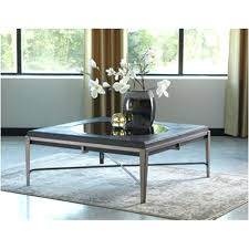 ashley coffee table glass set round with 4 stools