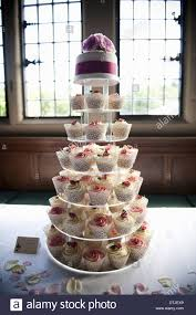 Frosted Cupcakes On A Seven Tier Cake Stand A Cupcake Wedding Cake