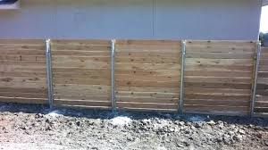 horizontal wood and metal fence. Beautiful And Wood Fence With Metal Posts Marvelous Contractor Fences  Commercial   On Horizontal Wood And Metal Fence Z