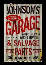 to view more garage personalized signs