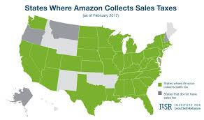 Sales Tax Institute Nexus Chart States Where Amazon Collects Sales Tax Map Institute For