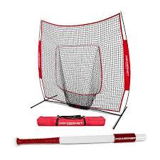 PowerNet 7x7 Baseball Softball Practice Net Bundle w/ Sweet Spot Training Bat 179.99 $131.99