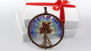 Dream Catcher Christmas Ornament Chakra Dreamcatcher Trees By Rie 86