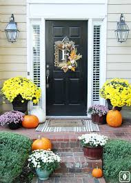 thanksgiving front door decorations20 Fall Porch Decor Ideas  Best Autumn Porch Decorations