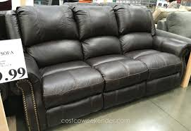 flexsteel leather sofa leather reclining couch costco couches